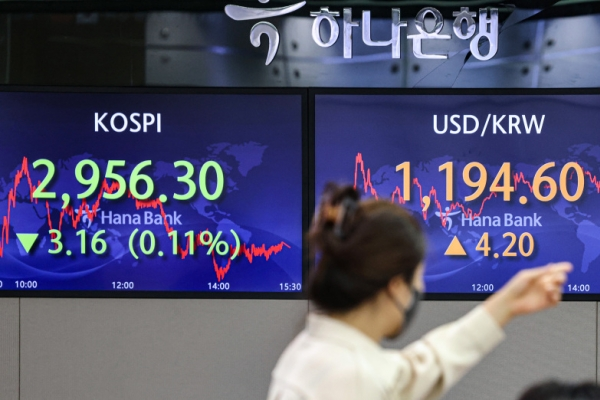 Seoul stocks inch down on Chinese developers' debt crises