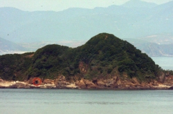 N.K. building military bunkers on border island