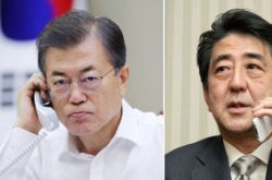 Moon, Abe agree to increase pressure on N. Korea to 'extreme' level