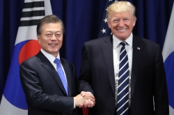 Moon, Trump agree to boost military deterrence, put maximum pressure on N. Korea