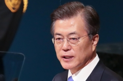 Moon calls on North to end vicious cycle of raising tension