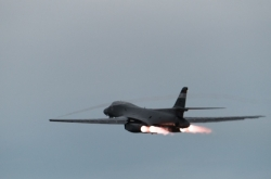 US bombers conduct unprecedented drill as Trump briefed on options on NK