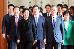 Moon reiterates denuclearization goal, rules out eased sanctions on NK