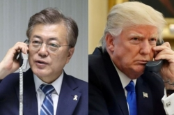 Moon, Trump discuss views on 'various responses'  by NK