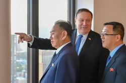 Pompeo meets top NK nuclear negotiator in NY