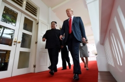 [US-NK Summit] Trump confident of 'tremendous success'