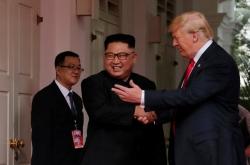 [US-NK Summit] Trump tells Kim a 'terrific relationship' beckons as summit begins
