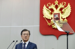 Moon vows to enhance trilateral economic cooperation with North Korea and Russia