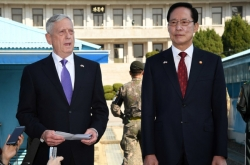 Pentagon chief reaffirms US' CVID goal, resolve to keep USFK troop level