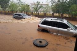 [Weather] Heavy rain hits Korea as Typhoon Prapiroon approaches
