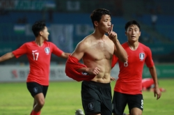 Korean striker justifying selection with goal poaching instinct