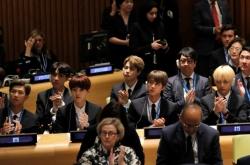 [Photo News]  K-pop boy band BTS at UN