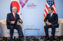 Moon, Pence stress cooperation on North Korea