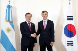 Leaders of Korea, Argentina agree to improve ties, support FTA negotiations