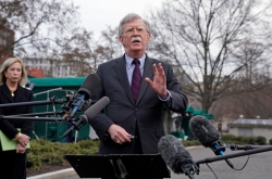 Trump hopes to resolve NK issue through negotiation: Bolton