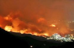 [Breaking] Firefighters  battle Gangwon mountain fires