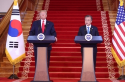 Moon emphasizes Korea-US alliance, Trump's role in NK issues
