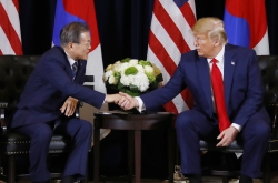 Moon, Trump reaffirm NK denuclearization resolve