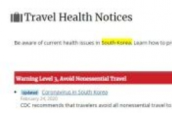 [Newsmaker] US CDC recommends avoiding nonessential travel to S. Korea over coronavirus