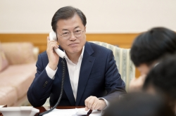 Moon, Trump discuss joint efforts against COVID-19 in phone conversation