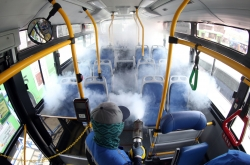 Air-conditioned buses in Seoul to run with windows open amid virus woes