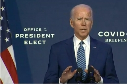Biden highlights importance of wearing masks in first briefing as president-elect