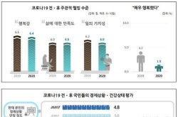 COVID-19 makes S. Koreans less happy, economically more insecure: survey