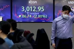 Kospi plunges nearly 3% on US bond yields hike