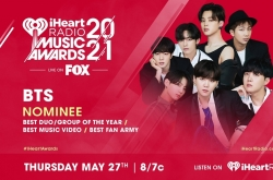 BTS nominated for 3 iHeartRadio awards