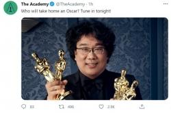 Bong praises art of filmmaking at Oscars