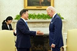 Moon, Biden share commitment to vaccine partnership, NK dialogue