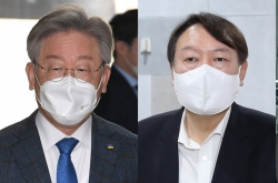 Gyeonggi Gov. Lee in virtual tie with ex-Prosecutor General Yoon in presidential hopefuls' poll