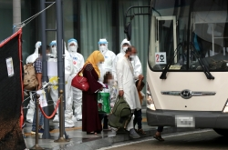 Afghan evacuees in S. Korea arrive at temporary shelter in Jincheon