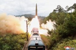 NK says ballistic missiles tested from new rail-borne system