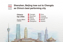 Shenzhen, Beijing lose out to Chengdu as China's best performing city