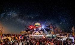 Floating festival in middle of ocean