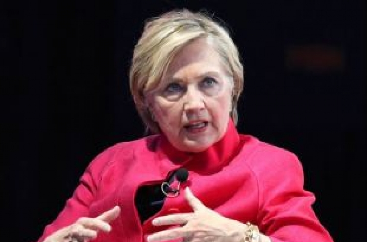 Hillary Clinton warns US credibility hurt by Trump's 'dangerous' war of words