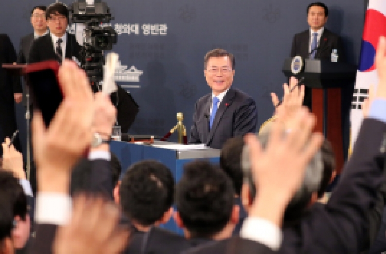 Moon's 'no script' news conference draws attention
