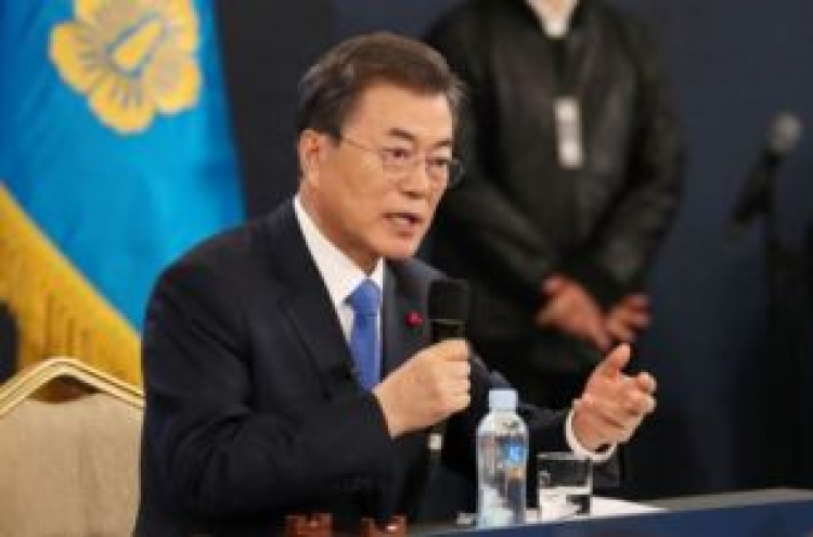 Moon calls for Japan's apology over 2015 deal, amid controversy
