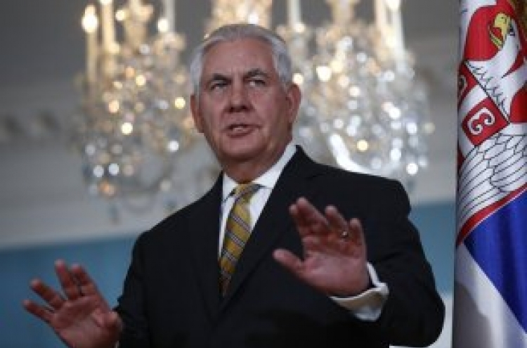 Tillerson: Up to N. Korea to choose talks with US