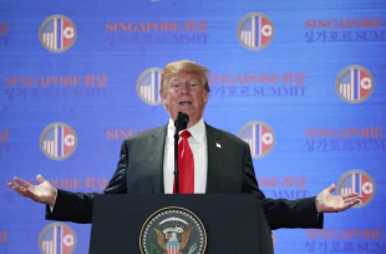 [US-NK Summit] Reducing US troops in S. Korea 'not part of equation': Trump