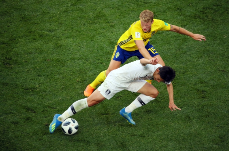[World Cup] S. Korea fall to Sweden 1-0 in Group F showdown