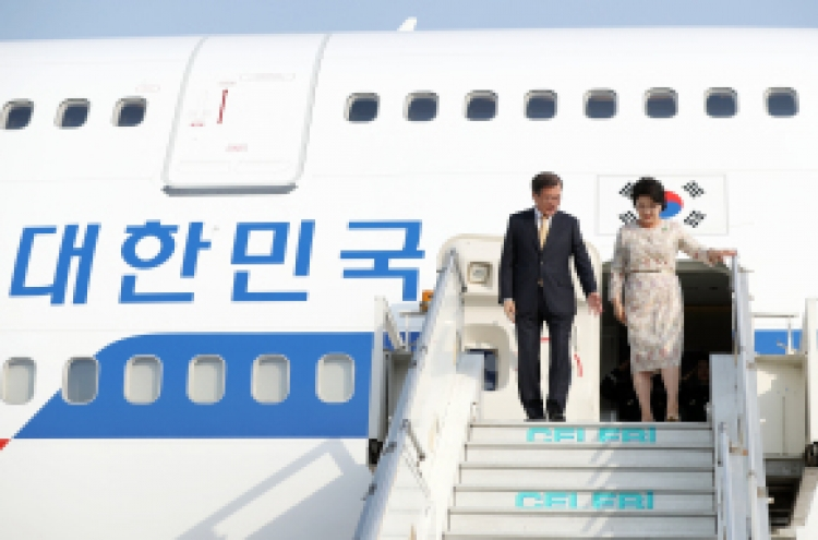 S. Korean president arrives in India for state visit