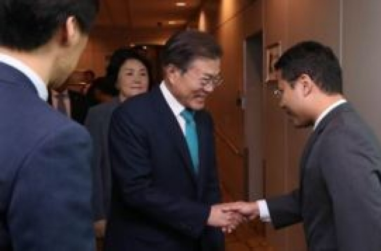 S. Korean leader arrives in Singapore for summit with Prime Minister Lee