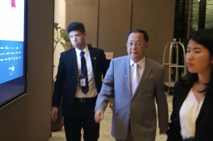 N. Korea's top diplomat rejects meeting with S. Korean counterpart