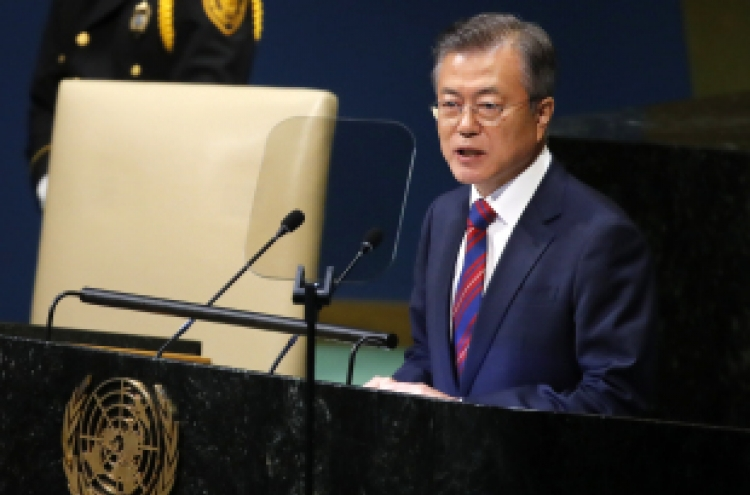 Moon sought to deliver North Korea's stance in US