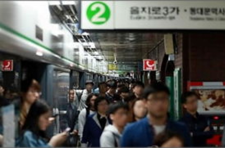 Green line saw most crimes among Seoul metro lines