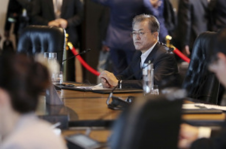 Moon calls for IMF efforts to prevent financial crisis