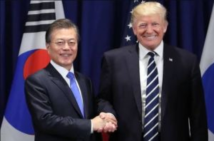 Moon has message from Trump for NK leader: CNN