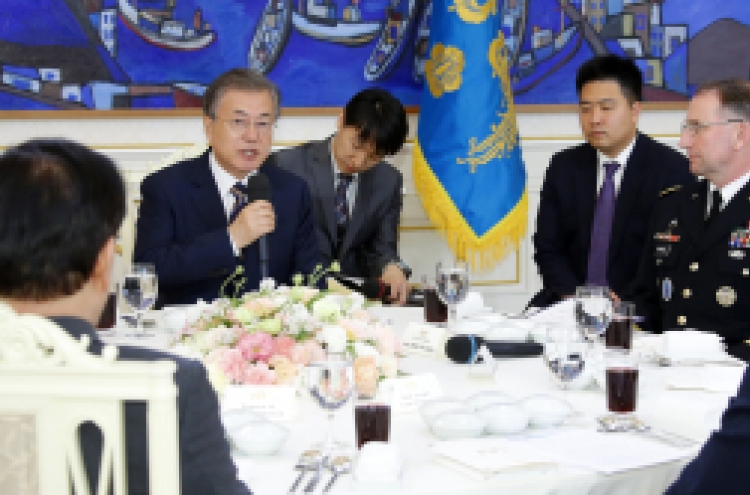Moon highlights value of Korea-US alliance